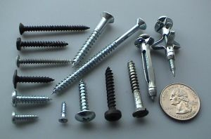 Screws come in a variety of shapes and sizes for different purposes.