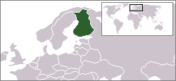 Location of Finland
