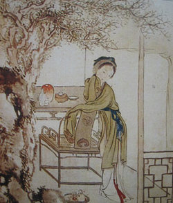 A scene from the story, painted by Xu Bao (b.1810)  Other scenes
