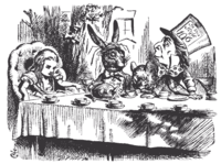 "'s illustration for ""A Mad Tea-Party"", 1865"