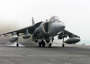 April 7th 2003: an AV-8B Harrier takes off from the assault ship USS Nassau, to engage targets over Iraq in support of Operation Iraqi Freedom